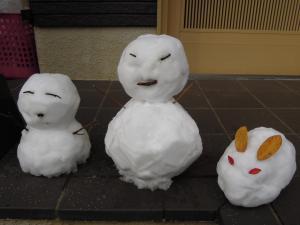 正月雪うさぎ