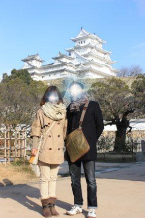 201501姫路城ふたり