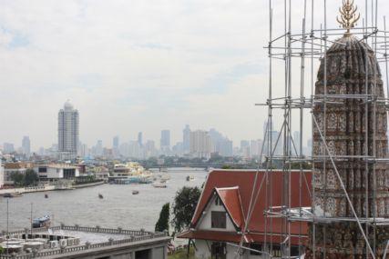 2014ワットアルンから見たバンコク市街