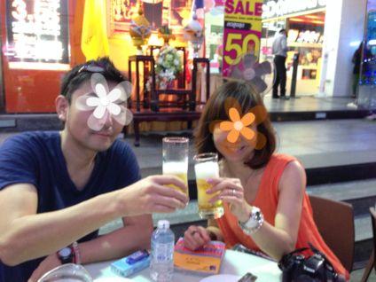 2014バンコクプラトゥーナム1日目夜乾杯