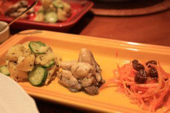 牡蠣のオイル漬け3種盛り