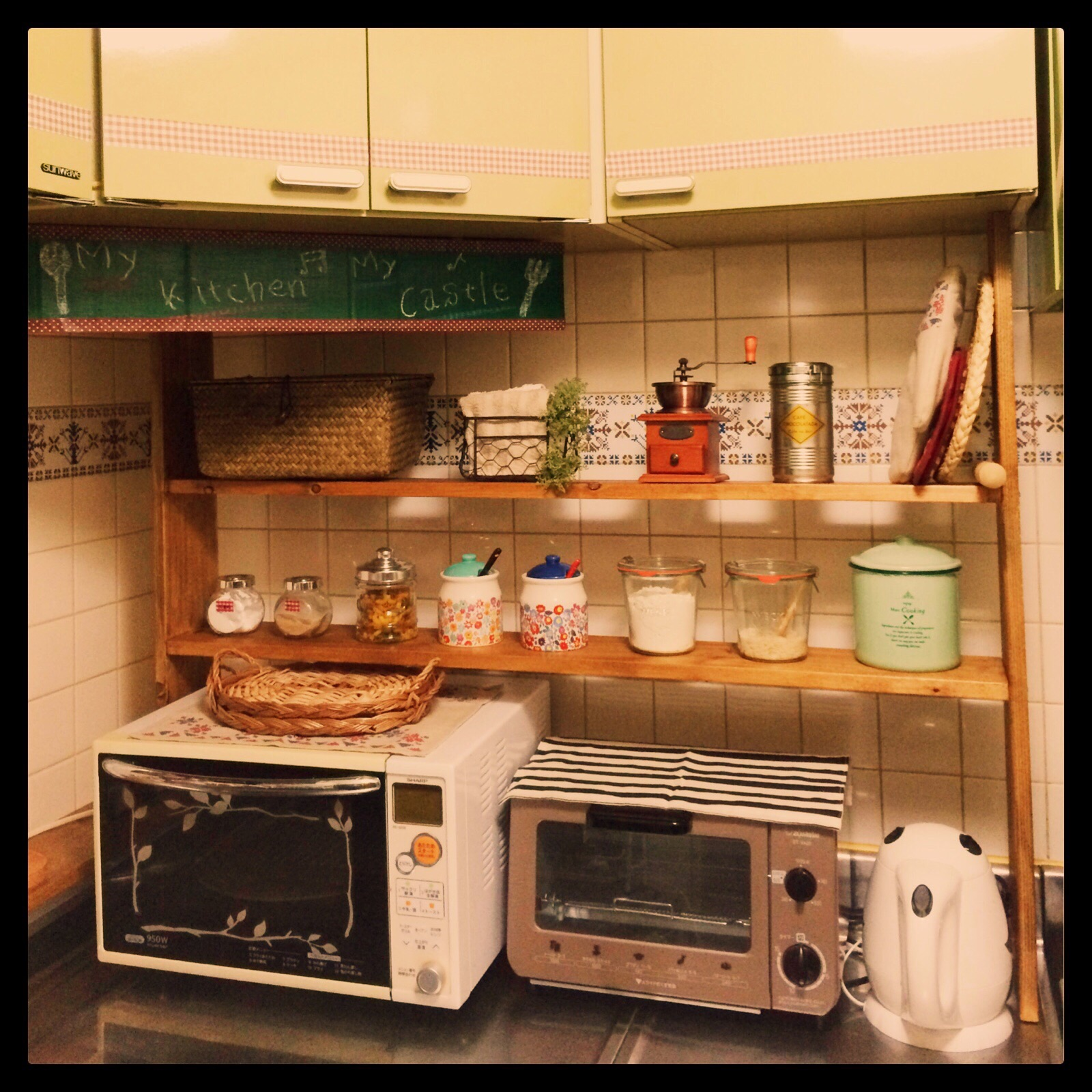 キッチン キッチン diy 棚 : ... キッチン棚DIY‼︎&お気に入り