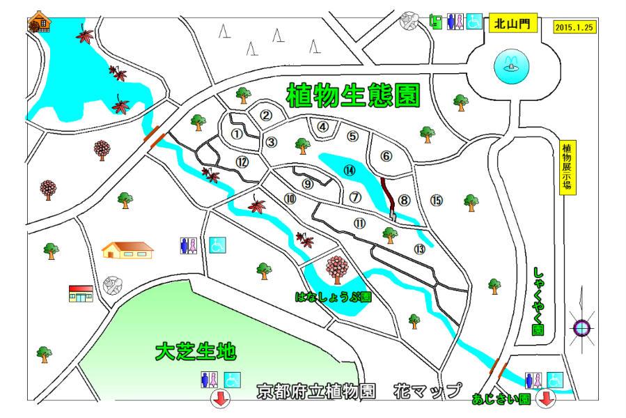京都府立植物園 地図