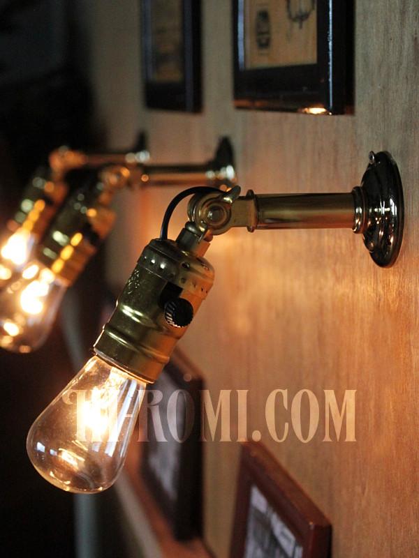 LEVITON社製アルミソケット&角度調整付ミニブラケットD/アンティーク工業系照明壁掛ランプ