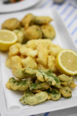イカと夏野菜のフリット