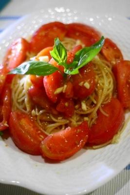 フレッシュトマトの冷製スパゲティ2