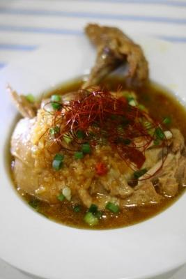 圧力鍋で作る骨付き鶏もも肉のごちそうサムゲタン2