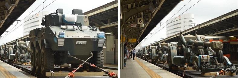 自衛隊の 装甲車1