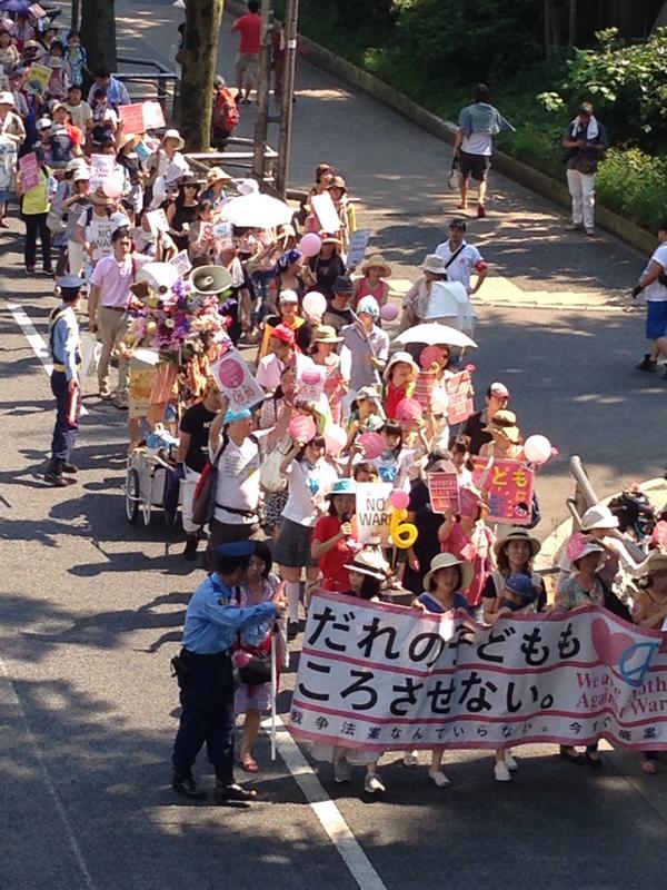 渋谷はママさんデモ