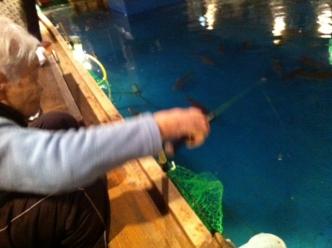 ババア釣り開始