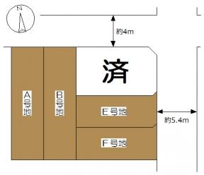 昭和町区画図