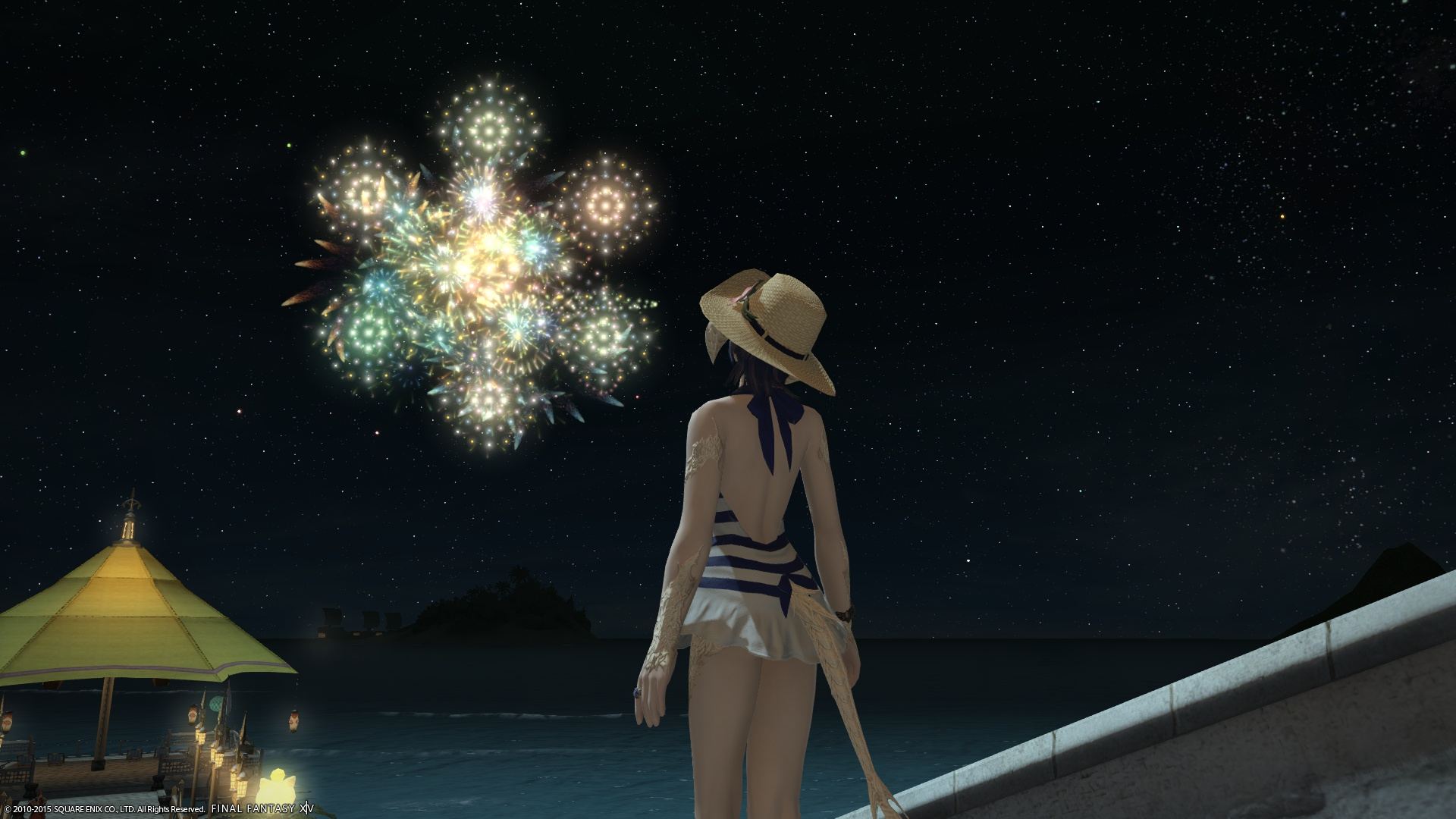 水着と花火と私