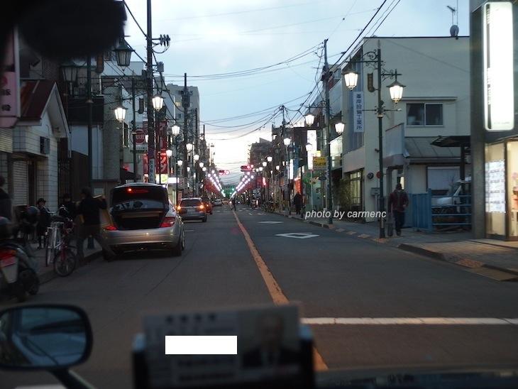 タクシーから富士見通り