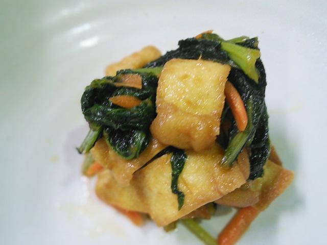 中華風・小松菜とあげの炊いたん