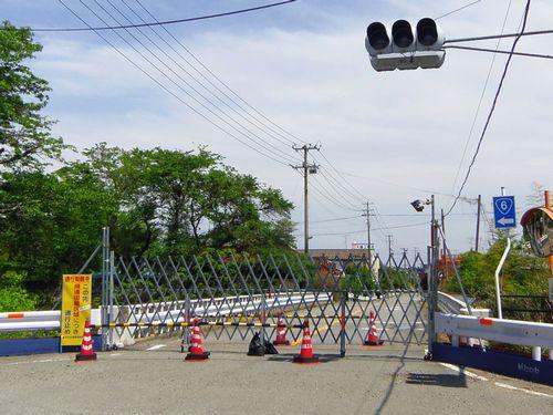 国道6号線26帰還困難区域富岡町内フェンス