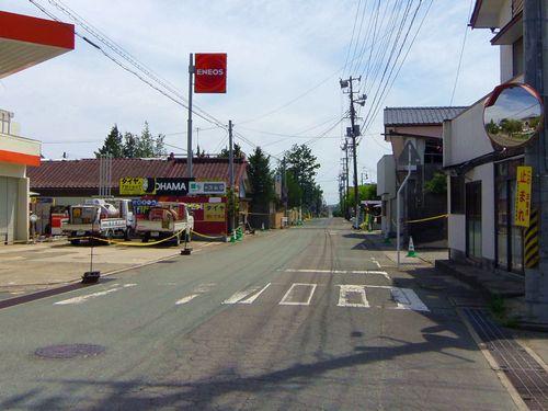 国道6号線27居住制限区域富岡町内