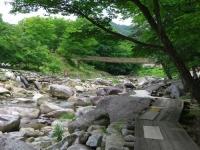 丸森不動尊公園キャンプ場5内川吊り橋