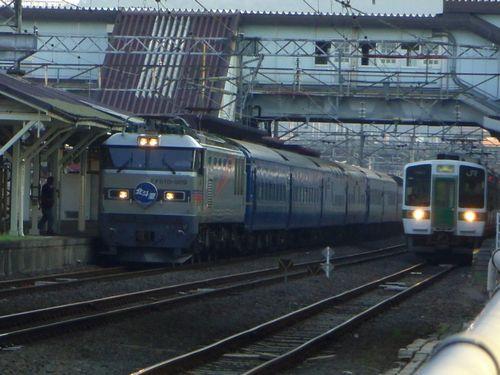 寝台特急北斗星12福島駅EF510