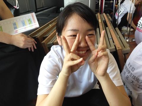 12 理美容甲子園2015 PM競技入場待ち キリちゃん