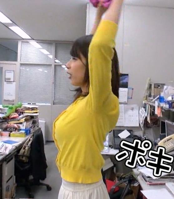 加藤綾子 横乳キャプ・エロ画像8