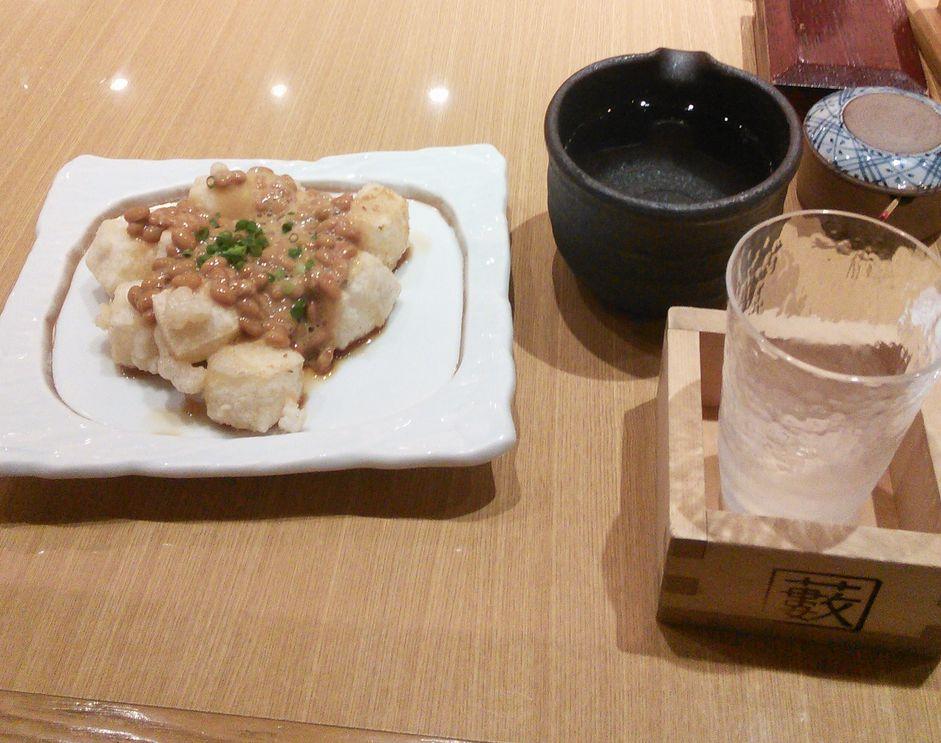 20150814藪そば揚げ餅納豆