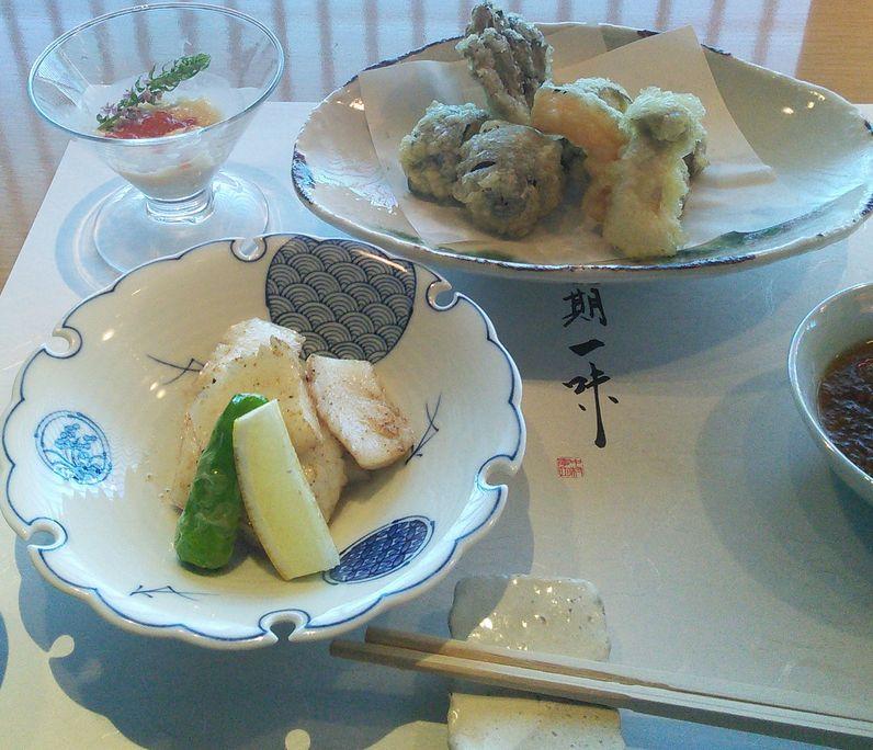 20150814中村孝明野菜の天麩羅紋甲イカバター