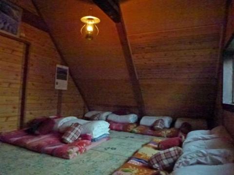駒の小屋はランプ生活です