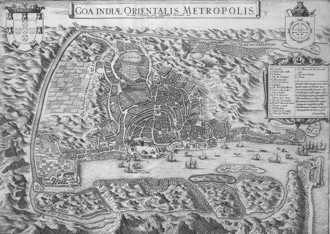 ゴアの要塞地図