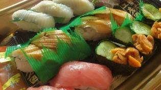 くら寿司(熟成中トロ、鯵、うに、えんがわ、穴子)4