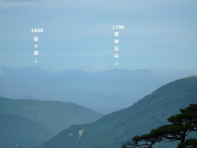 かすかに愛媛県の山が見えています