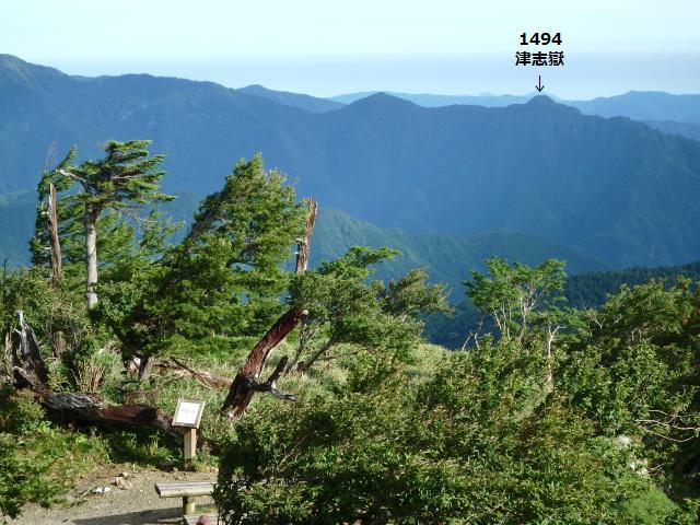 矢筈山から南東に伸びる尾根