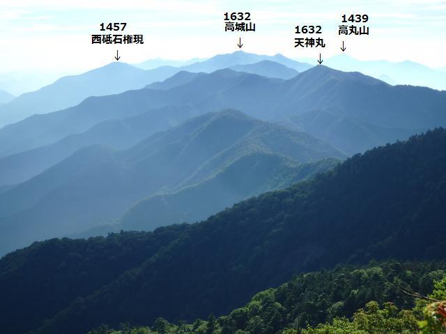 高城山の方向
