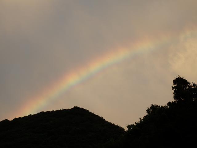 虹も出てきた