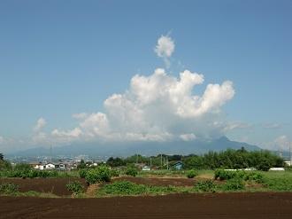 榛名山だけ雲