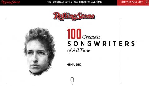 最も偉大なソングライターは?