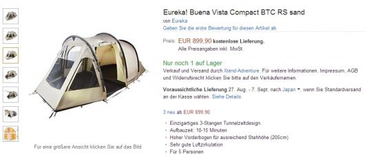 eureka! Buena VIsta Compact BTC RS