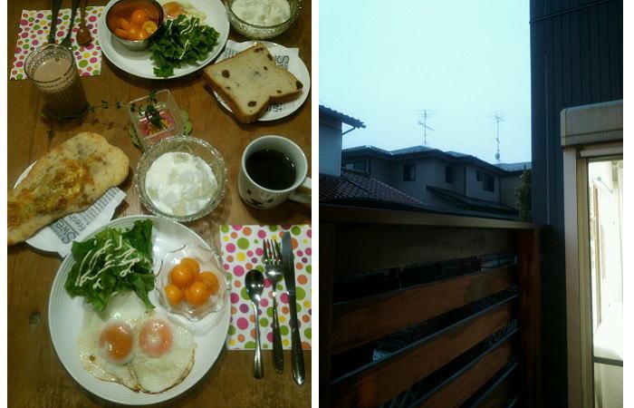 朝食をしっかりと