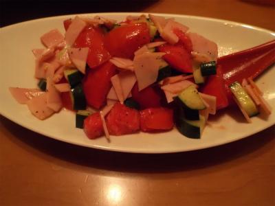 8.14トマト・ハムのサラダ