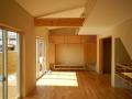 福島の家LDK左官壁