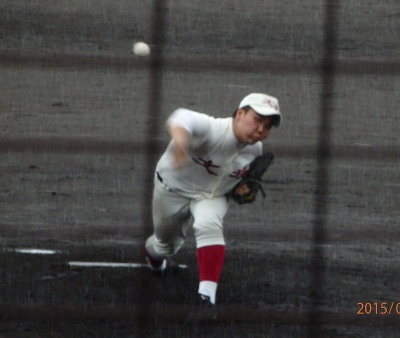 P7144470文徳7回から登板野口投手