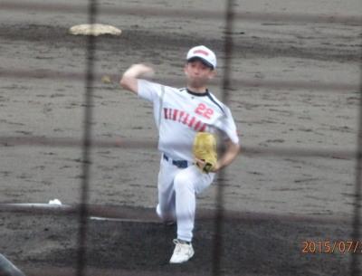 P7210253金た郎先発投手 回を追うごとに投球術が冴えた