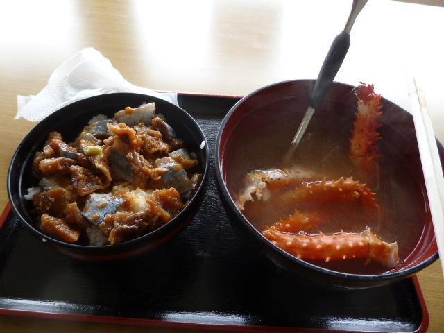 納沙布岬で昼ごはん