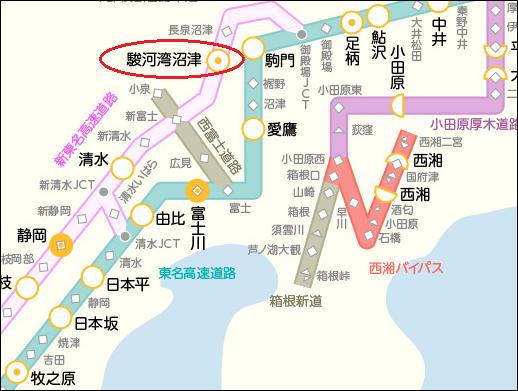 駿河湾沼津SA 地図