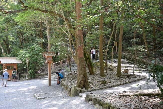 豊受大神宮 別宮への石段