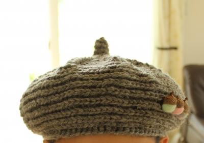 キノコグレー帽