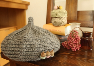 キノコグレー帽 (2)
