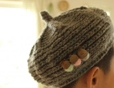 キノコグレー帽 (3)