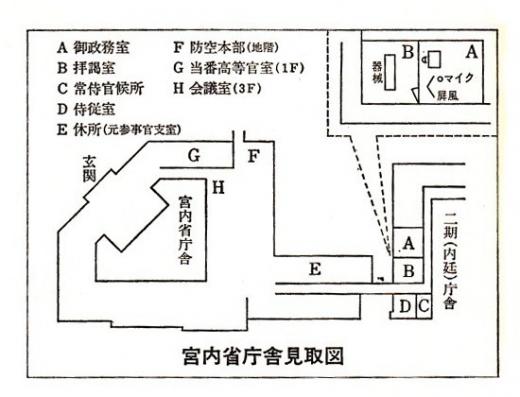 宮内省庁舎見取図