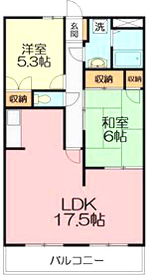 ■物件番号4182 海側!ファミリー2LDKマンションが9万円!敷金・礼金ダブルゼロ!敷地Pあり!