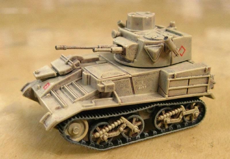 エアフィックス 1/76 ヴィッカース軽戦車Mk-6